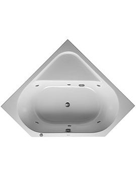 D-Code 1400 x 1400mm Built-In Whirltub With Central Outlet