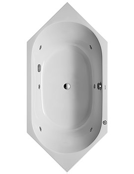 D-Code 1900 x 1900mm Built-In Whirltub With Central Outlet