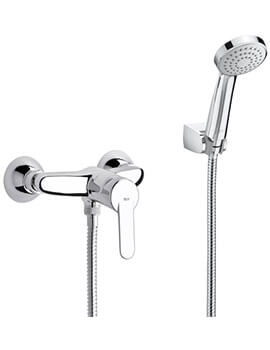 Victoria Wall-Mounted Shower Mixer Valve With Handset And Hose