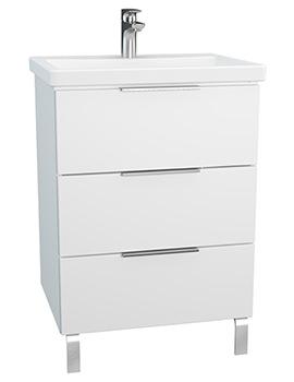 VitrA Ecora 600mm White 3 Drawers Unit With Washbasin