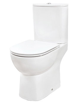Curve Close Coupled Open Back WC With Soft Close Seat And Cover