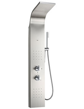 Essential Stainless Steel Hydromassage Thermostatic Shower Column