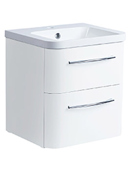 System 500mm 2 Drawer Wall Mounted Unit With Basin