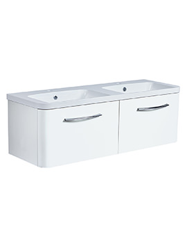 System 1200mm 2 Drawers Unit With Double Basin