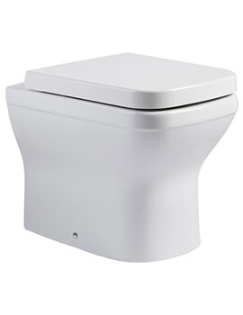 Cover Back To Wall WC Pan White