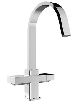 Chocolate Kitchen Sink Mixer Tap With EasyFit Base