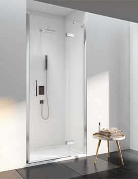 Merlyn 6 Series Recess Frameless Inline Hinged Shower Door 2000mm Height