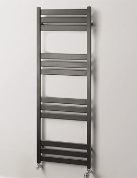 MHS Rads 2 Rails Hyde White 500mm Wide Towel Rail