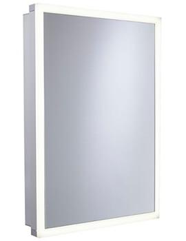 Tavistock Nook 500mm Single Door Mirror Cabinet With Integrated LED Lighting