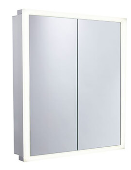 Nook 650mm Double Door Mirror Cabinet With Integrated LED Lighting