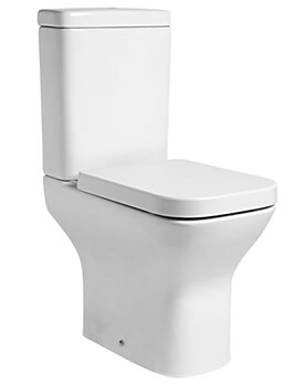 Tavistock Structure Comfort Height Open Back Close Coupled WC Pan With Cistern And Soft Close Seat
