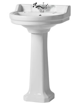 Vitoria 550mm 1 Tap Hole Basin With Full Pedestal