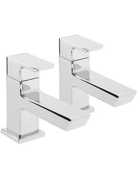 Cobalt Deck Mounted Pair of Basin Taps