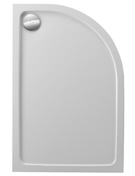 Just Trays JTFusion Right Hand Offset Quadrant Flat Top Anti-Slip Shower Tray With Waste