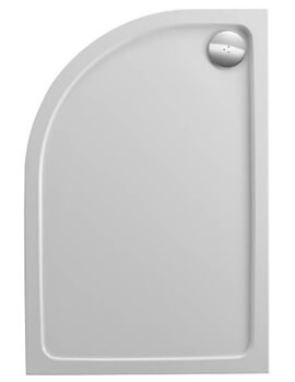 Just Trays JTFusion Left Hand Offset Quadrant Flat Top Anti-Slip Shower Tray With Waste