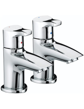 Capri Chrome Pair Of Basin Taps