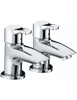 Capri Chrome Pair Of Bath Taps
