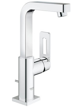 Quadra L-Size Single Lever Basin Mixer Tap With Pop Up Waste