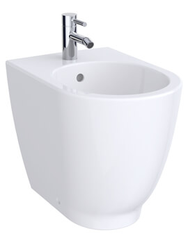 Acanto 350 x 510mm Back To Wall Floorstanding Bidet