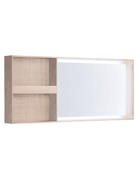 Citterio Illuminated Mirror With Lateral Storage Shelf
