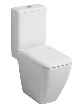 Geberit Icon Square 355 x 635mm Rimless Close Coupled Shrouded WC Pan