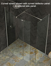 Kudos Ultimate 1952mm High Curved 8mm Glass Shower Panel