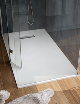 Saneux L25 Linear Rectangular Shower Tray With Waste - L251008