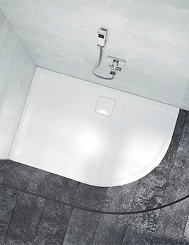 Merlyn Level 25 Quadrant 900 x 900mm Shower Tray With Waste