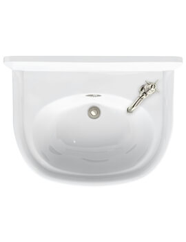 Arcade 500mm Cloakroom Basin 1 Tap Hole Right Hand With Overflow