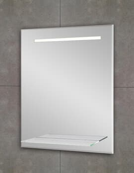 Fusion Light Backlit LED Mirror With Shelf