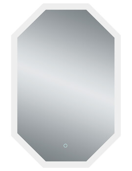 Bathroom Origins Grand Deco 600 x 1000mm Backlit LED Mirror - BR.9060.1130.S