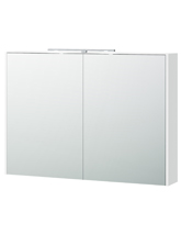 Miller London 100 White 990 x 700mm Double Door Mirror Cabinet