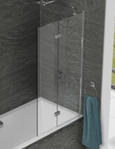 Kudos Inspire Two Panel In-Fold Bathscreen