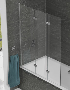Kudos Inspire 1250 x 1500mm Three Panel In-Fold Bath Screen