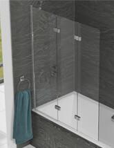 Kudos Inspire 1250 x 1500mm Three Panel In-Fold Bath Screen