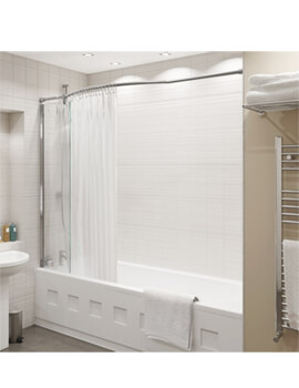 Kudos Inspire 1500 x 350mm Over Bath Shower Panel With Bow Rail
