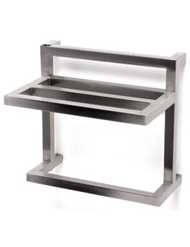 Aeon F-Bar 450 x 420mm Vertical Stainless Steel Towel Rail