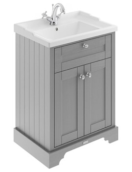Old London 2 Door Floor Standing Unit With Basin - Image