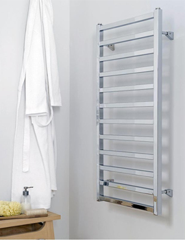 Aeon Karnak 500mm Wide Vertical Stainless Steel Towel Rail