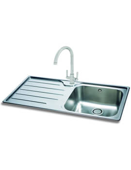 Carron Phoenix Ibis 100 Left Hand 1.0 Bowl Inset Kitchen Sink