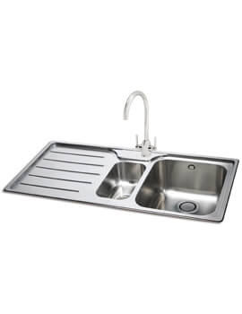Carron Phoenix Ibis 150 Left Hand 1.5 Bowl Inset Kitchen Sink