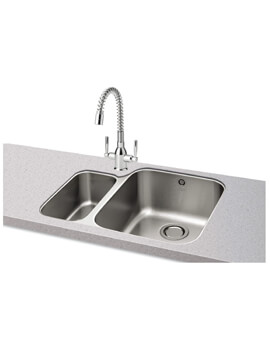 Carron Phoenix Ibis 150 Left Hand 1.5 Bowl Undermount Kitchen Sink