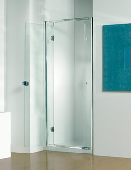 Infinite 1900mm High Straight Hinged Shower Door