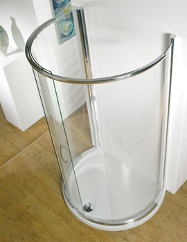 Infinite 1200 x 910mm Curved Peninsula Sliding Shower Door