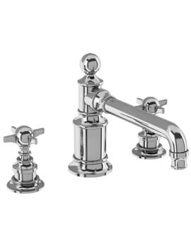 Arcade Deck Mounted Three Hole Basin Mixer Tap