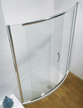 Infinite Side Access Bowed Sliding Shower Door