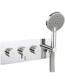 Dial Bath - Shower Valve With Kai Lever Trim And Ethos Handset