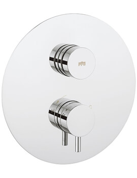 Dial 1 Control Shower Valve With Kai Lever Round Trim