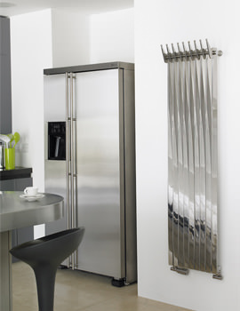 Aeon Clipper 220 x 1500mm Stainless Steel Central Heating Towel Rail
