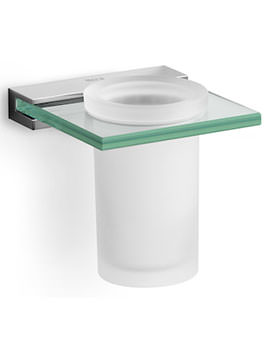 Nuova 115 x 110mm Wall Mounted Tumbler Holder And Glass